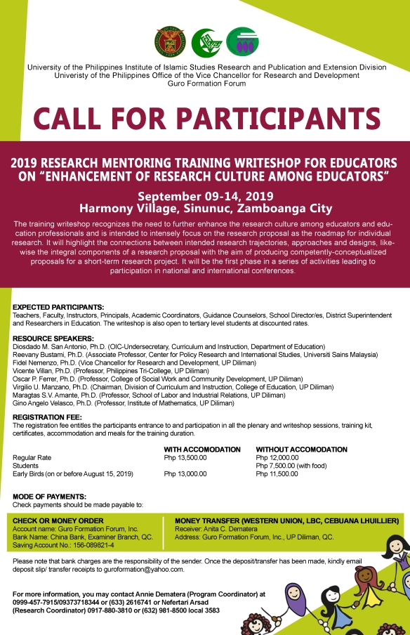 Call for Participants: Enhancement of Research Culture among